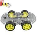 Rotoup B01 Новый Двойной Сильный Двигателя Смарт Робот Автомобилей Шасси 4WD монтажный Комплект с Датчиком Скорости Батарейного Модуля 4 Wheel Drive # RBP009