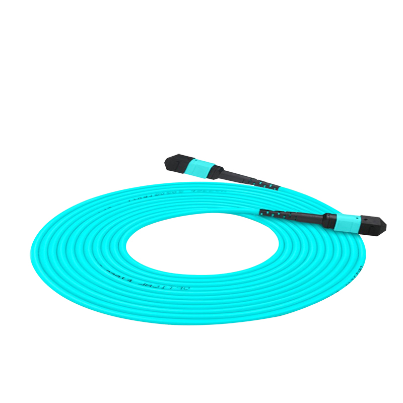10m 12 Cores MPO Fiber Patch Cable OM3 UPC Jumper Female To Female Patch Cord Multimode ,Type A Type B Type C