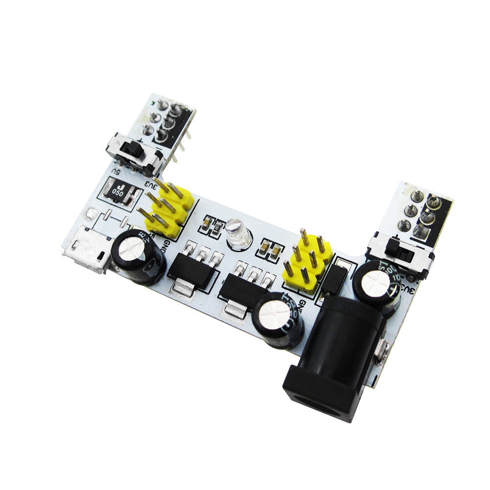 MB102 DC 7-12V Micro USB Interface Breadboard Power Supply Module MB-102 Module 2 Channel Board mb 102 mb102 solderless breadboard power supply jumper cable kits for arduino