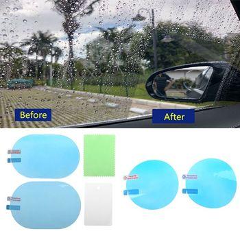 2 sztuk naklejka na samochodowe lusterko wsteczne folia ochronna Anti Fog folie okienne odporna na deszcz tylna folia odblaskowa ekran akcesoria ochronne tanie i dobre opinie CN (pochodzenie) 10cm x 10cm 10cm x 15cm