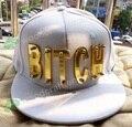 Cristal Hiphop carta acrílico CADELA CHAPÉU WATI B novo boné de beisebol hiphop cravejados personalizados chapéus