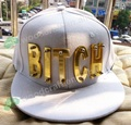 Hiphop crystal acrylic letter BITCH WATI B HAT new hiphop baseball cap studded hats custom hats