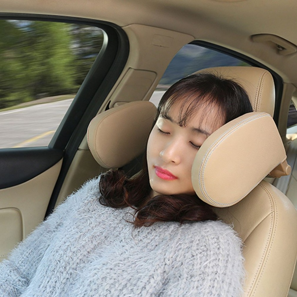 Headrest Pad Neck Pillow Car Styling Car Seat Head and Neck Support Pillow Leather Neck Shoulder Pillow Cushion for Sleeping A0