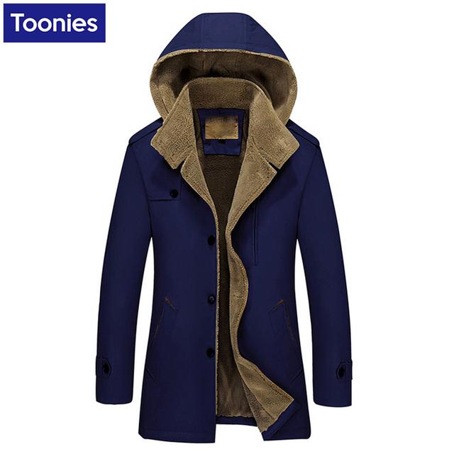 Toonies marca além disso cashmere médio longo windbreaker homens sólida fino trench coat com capuz masculino roupas plu tamanho s-4xl jacket casacos