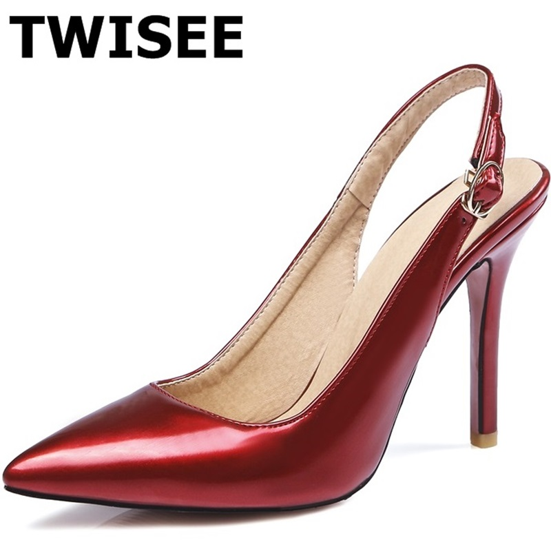 Buckle Strap Pumps Sexy red bottom extreme High Heels Pointed Toe Women Shoes Brand Patent Leather Wedding Shoes For Women(China (Mainland))