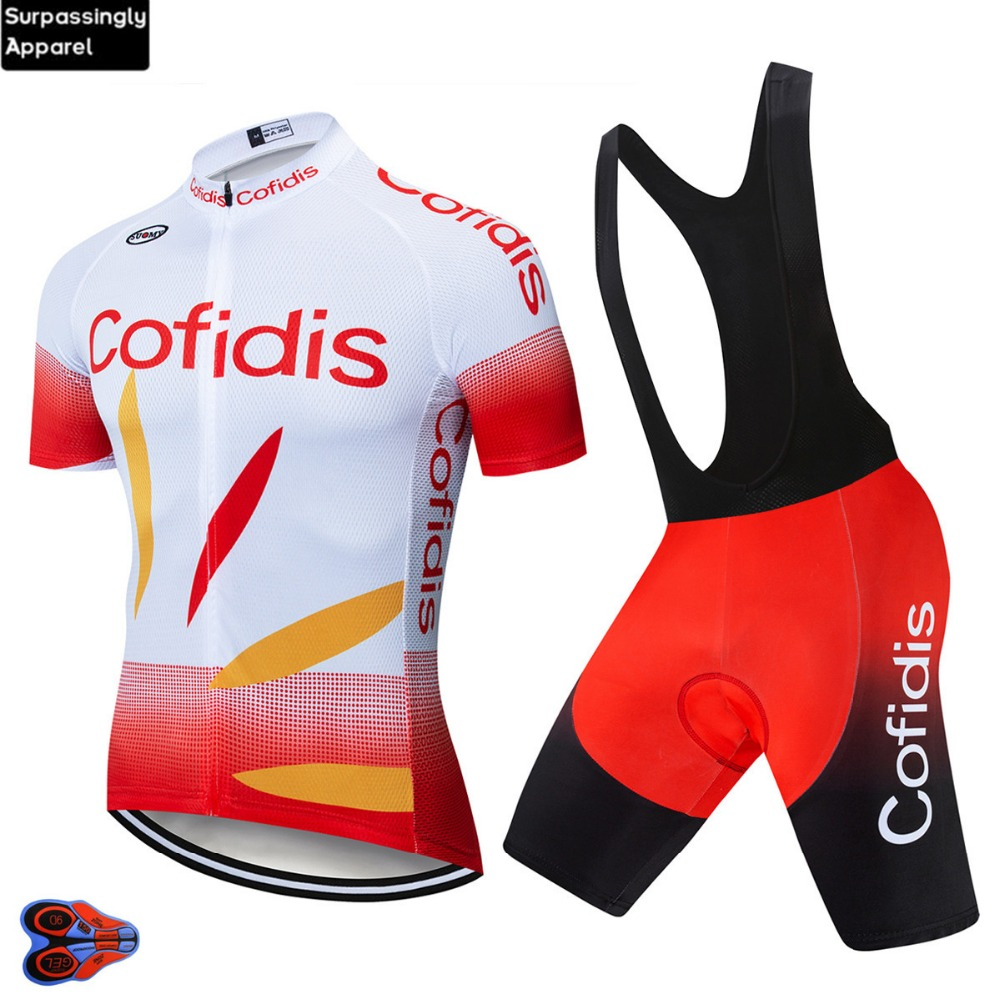 UCI Team Pro Cofidis Bike Cycling Jersey Set Summer Breathable Bicycle Jerseys Clothes Maillot Ropa Ciclismo Cycling Clothing 9D|Cycling Sets| |  - title=