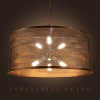 Индустриальный Стиль Бар творческая личность кафе сети люстры с прожекторы светодиодное освещение светильники светодиодные лампы подвесн