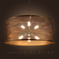 Industrial style bar creative personality cafe network chandeliers with spotlights led lighting fixture led lamps pendant lamp