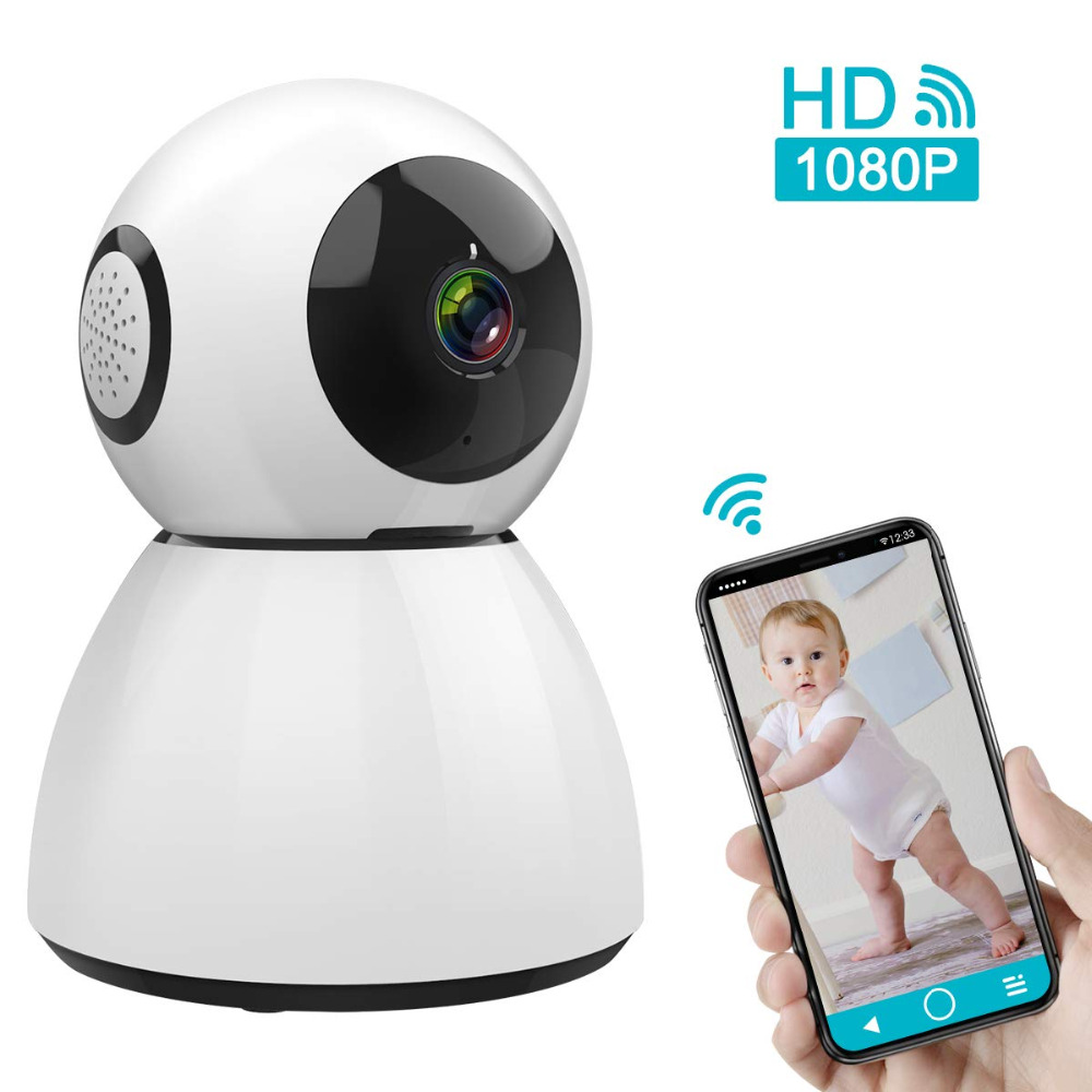 Wireless IP Camera, 1080P HD WiFi Camera Home Security Camera Baby Monitor Support Cloud Storage Night VisionWireless IP Camera, 1080P HD WiFi Camera Home Security Camera Baby Monitor Support Cloud Storage Night Vision