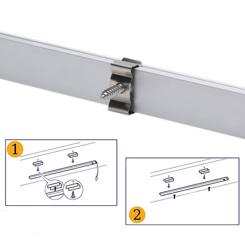 Luzes Led Bar de canal de alumínio tira Way of Mounting : Surface Mounting