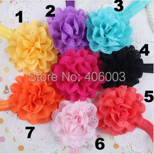 Child Headband Wth Flower Infant Toddla Hair Bow Baby Girls Elastic Hair Band Free Shipping image