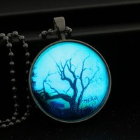2015 Fashion Glowing Wishing Tree Necklaces Glowing Tree Pendant Necklace For Women Handmade Glowing Jewelry