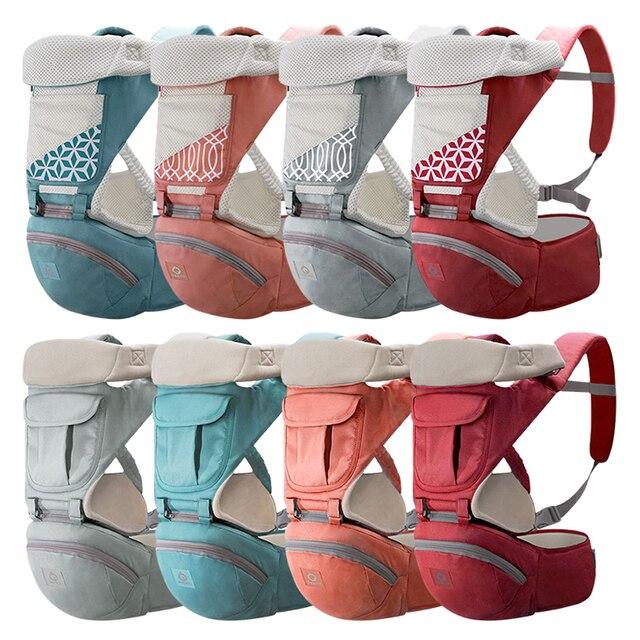 Ademend Ergonomische Baby Baby Carrier Rugzak Draagbare Baby Draagzakken Hip seat Hopen Baby Sling Carrier Wrap 2019 Nieuwe