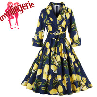 Sexy Fashion Women Retro flower ballet Vintage Rockabilly Swing Feminino Vestidos V Neck Dot Polka Women