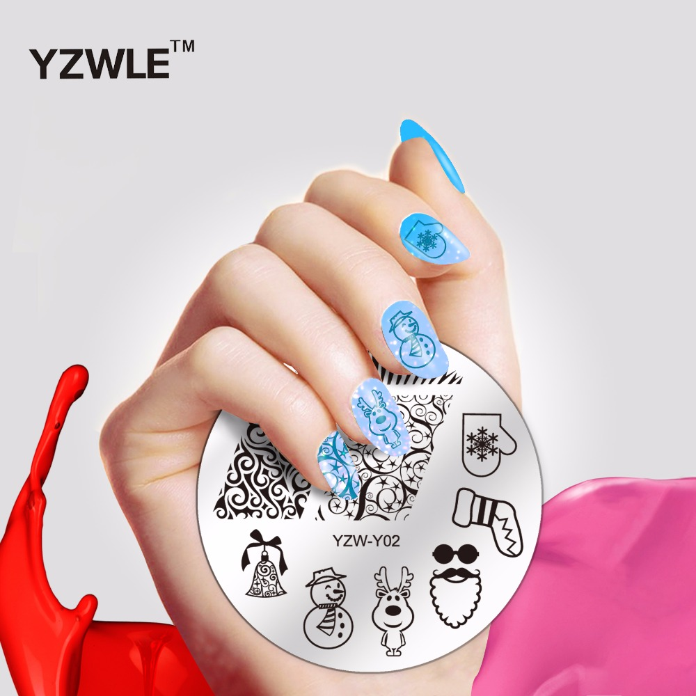 Christmas designs nail stamp decoration professional stamping stainless steel image plates for girl manicure