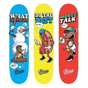 Image 1 - Professionelle Kanadische Skateboard Deck 7.875, 8, 8,125 zoll Doppel Rocker Skateboard Decks mit 1 pc freies griptape