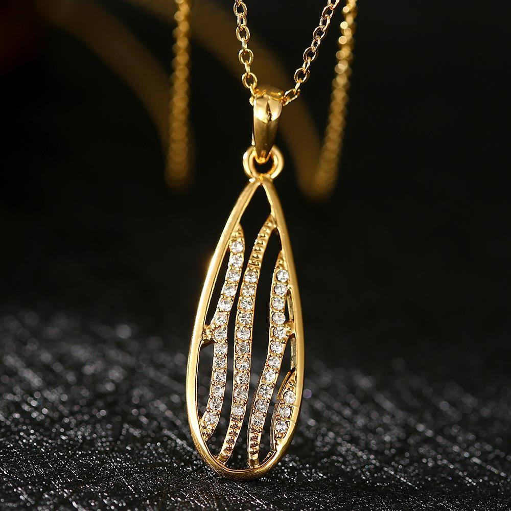 N790 Wholesale Nickle Free Antiallergic 18K Real Gold Plated Necklace pendants New Fashion