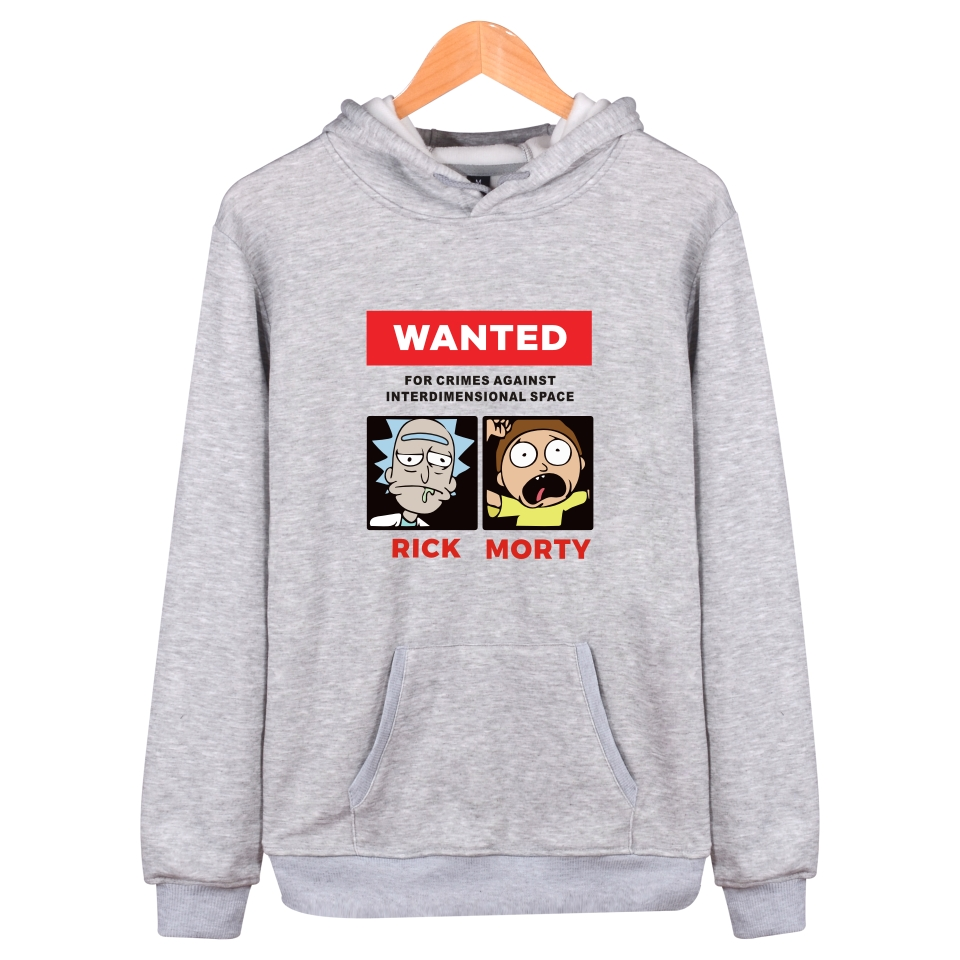 Image 3 - Rick and morty Hoodies Autumn winter Character fashion Anime Men Sweatshirt Cartoon Funny mens hooded sweatshirts Rick and morty-in Hoodies & Sweatshirts from Men's Clothing