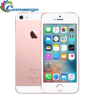 Оригинальный сотовый телефон Apple iPhone SE, 4G LTE, 4-дюймовый экран, 2 ГБ ОЗУ 16/64 ГБ ПЗУ, A9 два ядра, сенсор распознавания отпечатков пальцев, бывший в ...