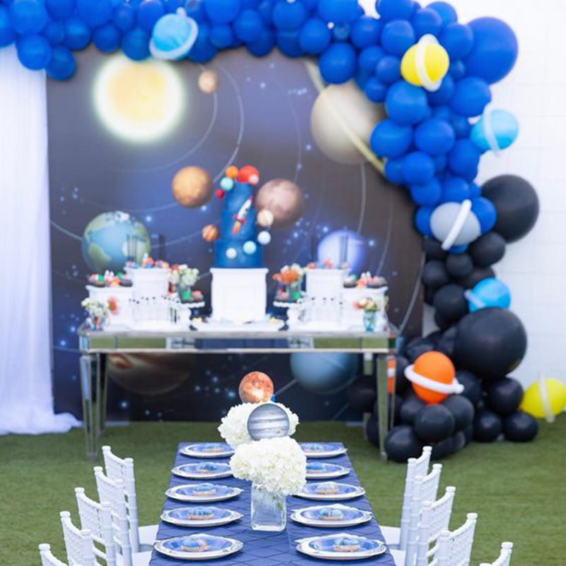 Galaxy Party Decoration Disposable Tableware Kids Birthday Outer Space Astronaut Party Table Decoration Of Party And Events in Party DIY Decorations from Home Garden