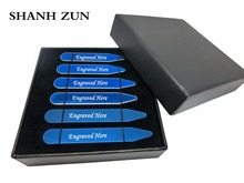 SHANH ZUN Engraved Dress Shirt Collar Stays with Secret Messages Great Idea for Dads or Grandpas Blue Tone my dads
