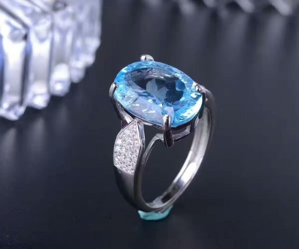 2017 Qi Xuan_Blue Stone Fashion Jewelry Rings_Finger Rings_S925 Solid Sliver Blue Stone Rings_Manufacturer Directly Sales2017 Qi Xuan_Blue Stone Fashion Jewelry Rings_Finger Rings_S925 Solid Sliver Blue Stone Rings_Manufacturer Directly Sales