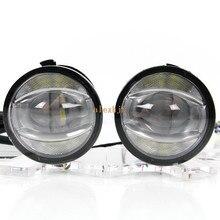 Июля King 1600LM 24 Вт 6000 К светодио дный световод Q5 объектива противотуманные лампы + 1000LM 14 Вт День ходовые огни DRL чехол для Nissan Inifiniti серии