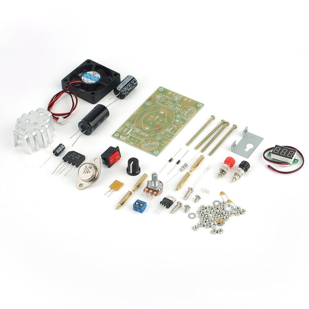 1 X LM338K 3A Adjustable Step Down Module DIY Kit Set Power Supply Converter Board DIY Kits Voltage Regulator Components