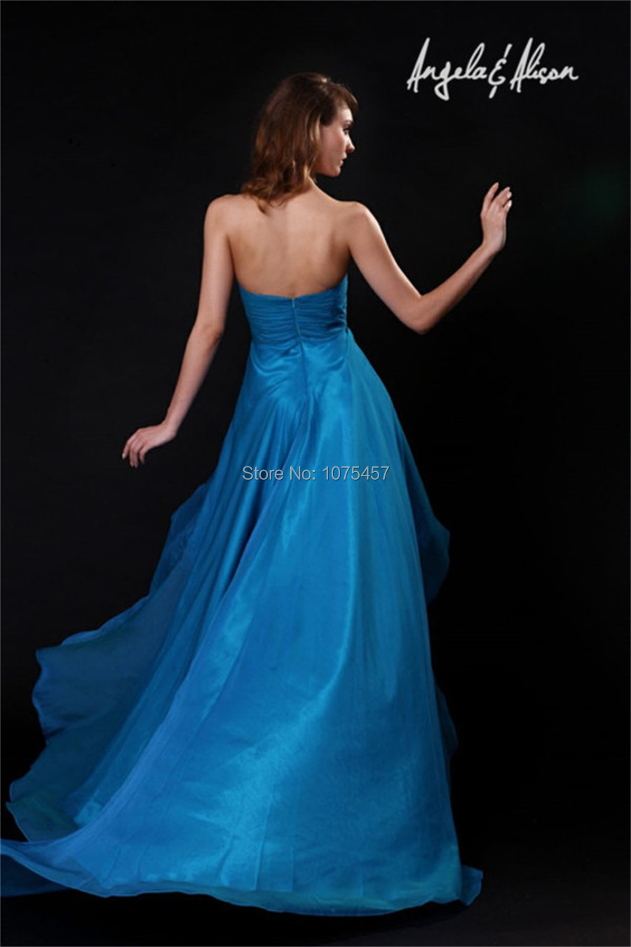 Free Shipping Coral High Low Prom Dresses With Crystal Beaded 2014 ...