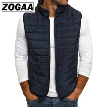 ZOGAA Plus Size Men Jackets Coat Autumn Man Down Winter Oversized Warm Parkas Male Vests Outerwear