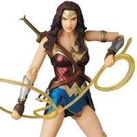 15CM Justice League DC Anime Figure Wonder Woman Dolls MAFEX 048 Action Figure PVC Statue Bust Model Decoration toy Ver
