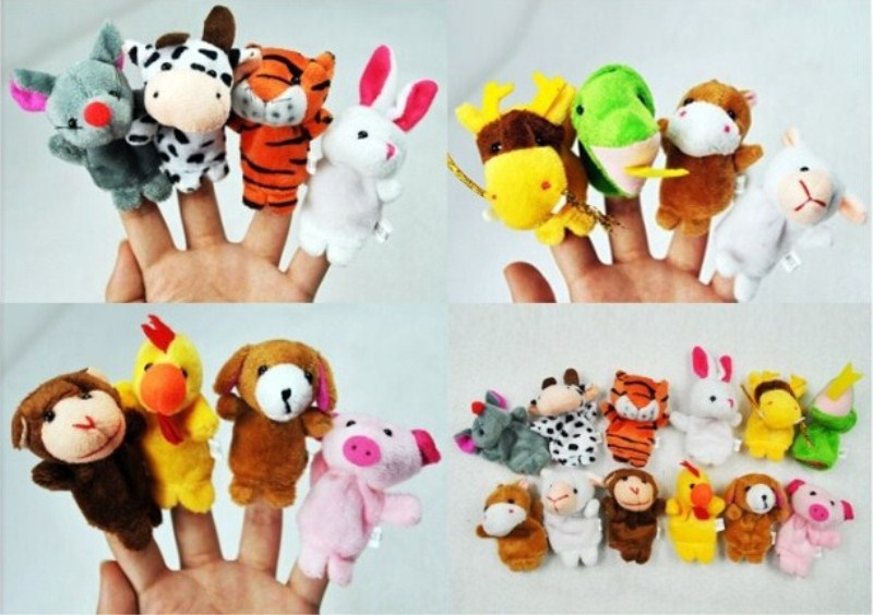 Puppet 12Pcs Kawaii Cartoon Twelve Zodiac Finger Puppet Plush Toys  Baby Cloth Education Finger Toy Story Puppet  Children  Toys