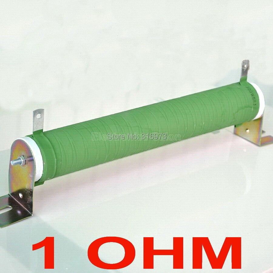 1 Ом 300 Вт неиндуктивное проволочное керамическое покрытие трубчатый резистор, аудио усилитель эквивалент нагрузки, 300 Вт.