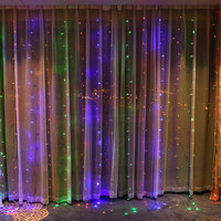3M x 3M 300 LED Outdoor Home Warm White Holiday Christmas Decorative xmas String Fairy Curtain Garland Strip Wedding Party Light