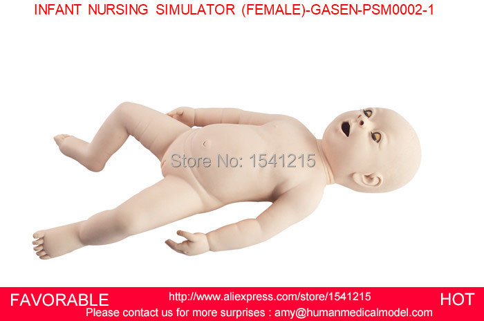 SENIOR BABY CARE TRAINING MODEL,INFANT VENOUS ACCESS SIMULATOR, NURSING BABY,INFANT NURSING SIMULATOR FEMALE-GASEN-PSM0002
