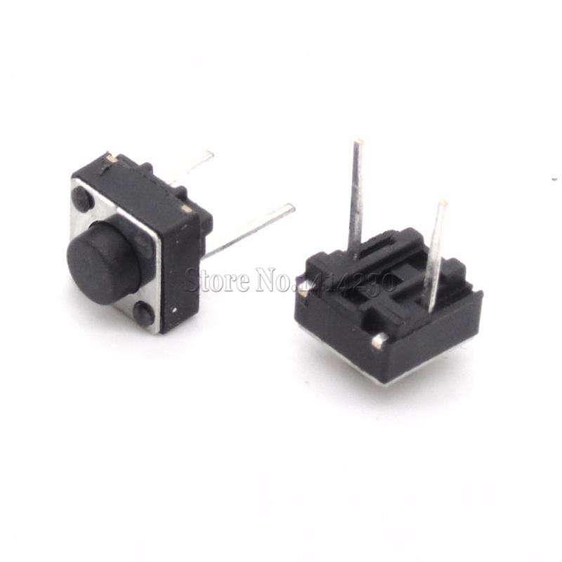 20Pcs Middle 2 pins 6*6*5 mm Switch Tactile Push Button Switches 6x6x5mm