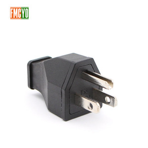 Image 1 - AC power conversion socket US standard / American standard power plug male and female docking pure copper free welding wire plug