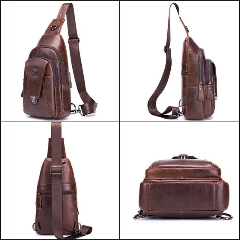 sacos de couro casual equitação sling ombro