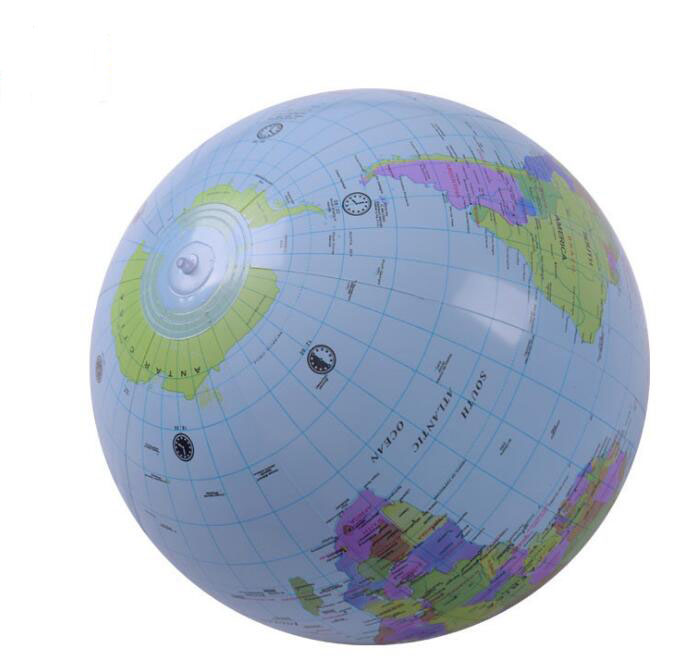Large 30cm Inflatable Toy Globe English Geography Learning Early Educational Toys For Children PVC Inflatable Globe Map Balloon