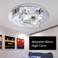 IWHD LED Ceiling Light Fixtures K9 Crystal Modern Ceiling Lamps Stainless Steel Luminaire Plafonnier Living Room