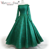 2017 Arabic Evening Gowns Dresses Green Abendkleider Arabic Long Evening Dresses Abiti Da Cerimonia Da Sera