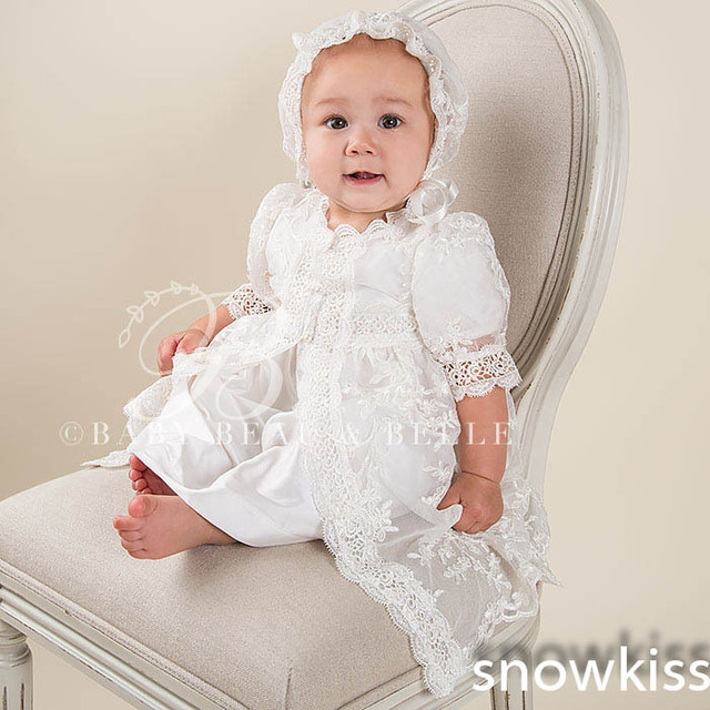 d5b3dabdf Baby Boys Girls Infant Outfit Floor Length Heriloom Dress Dedication Baptism  Gown christening gowns With Bonnet
