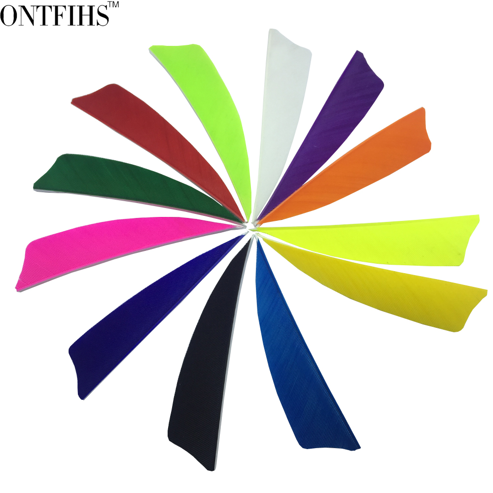 Brilliant Archery Arrow Shield Cut Feathers 12 Color Turkey Feather Hunting Accessories Arrows & Parts