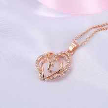 Imitation Rose Gold Filled Dubai African Jewelry Pendant Necklace Wedding Jewelry Gift For Women(China)