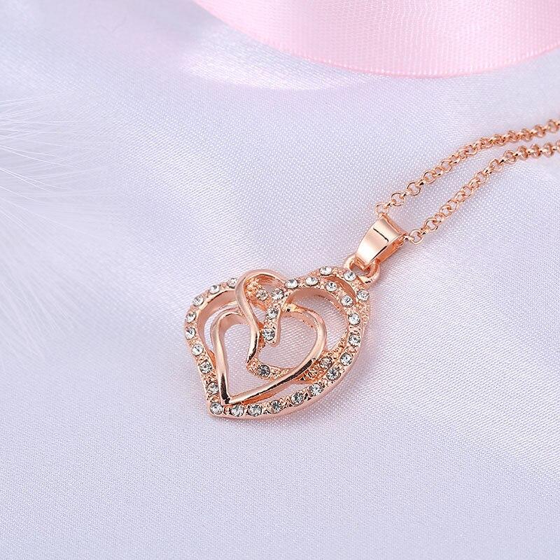 Fashion Lady Silver Eros clé cœur blanc artificielle Opale Pendentif necklacejewelry