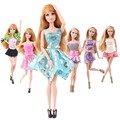 10Sets/Lot Hot Sale Doll Accessories Dress Fashion Doll Outfits 1/6 Doll Clothes