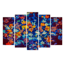 Home Decor Modular Frame Picture Fallen Leaves Canvas Painting 5 Piece Poster Wall Art For House Fitment