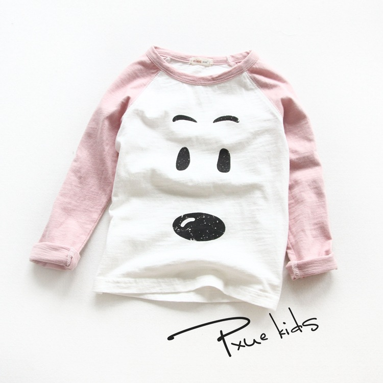 2016 fashion Spring Autumn children t shirts for boys girls long sleeve T-shirts Size 2T-7 child clothings kids tops tees