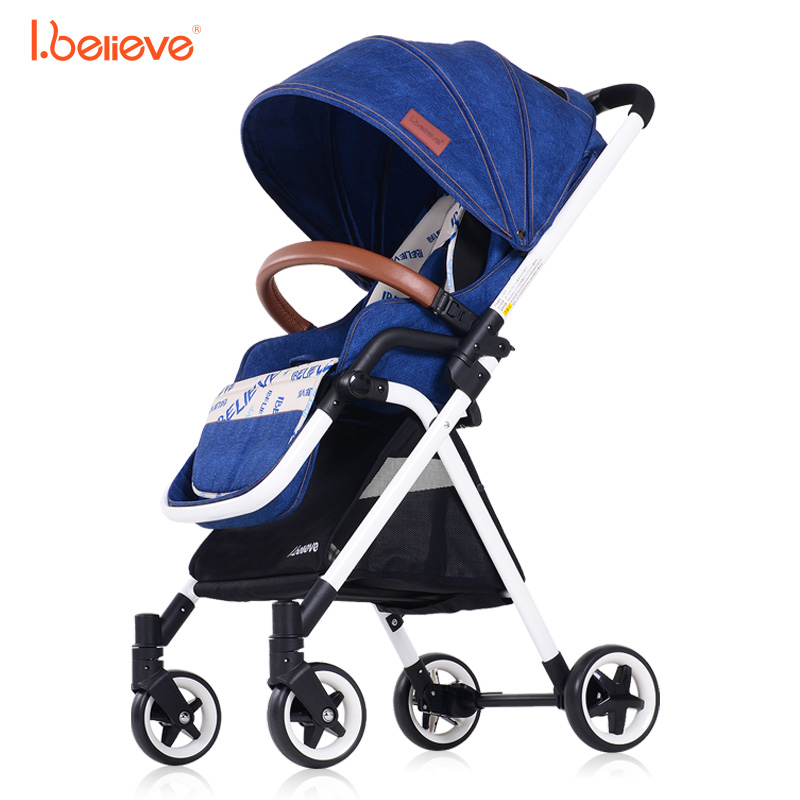I.believe Baby Stroller I-S012 High landscape Portable lightweight 5 point harnes Foldable baby pram For 6-36 month baby цена и фото