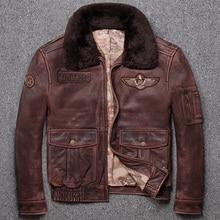 ¡Envío gratis! Nueva chaqueta de cuero para hombre estilo clásico G1, chaquetas de piel de vaca vintage, abrigo de cuero genuino para hombre.